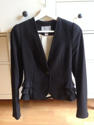 Eleganter Blazer von H&M mit Schößchen in Größe 34, schwarz, neuwertig