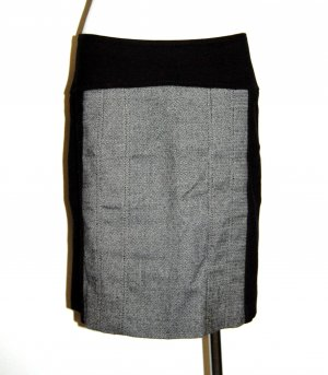eleganter - Bleistiftrock - Stretchrock - schwarz - grau von Comma - Gr. 36