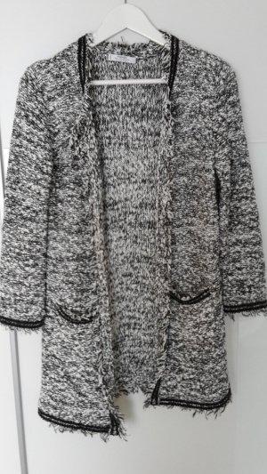 Eleganter Cardigan schwarz/weiß