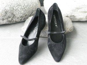 Unützer Loafers zwart Suede