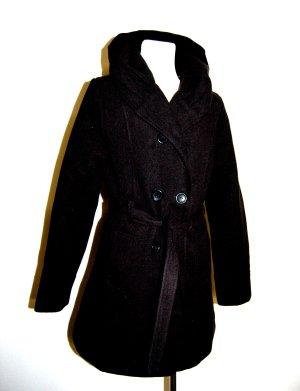 eleganter Damen Wollmantel - Longjacke mit Gürtel von Colloseum Gr. M