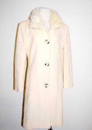eleganter - Damen Wollmantel - mit Pelz in beige von TUZZI Gr. 38