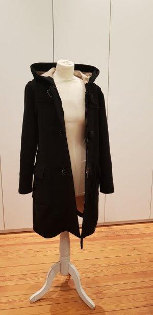 Strenesse Blue Abrigo de lana negro lana de esquila