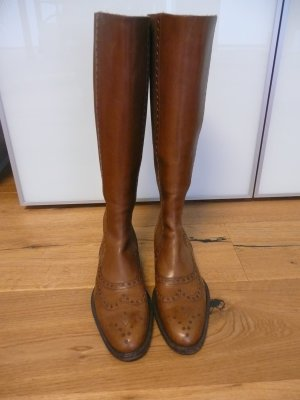 Truman's Stretch Boots cognac-coloured leather