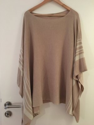 Poncho gold-colored-white