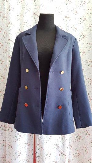 Eleganter Halb Mantel in Blau
