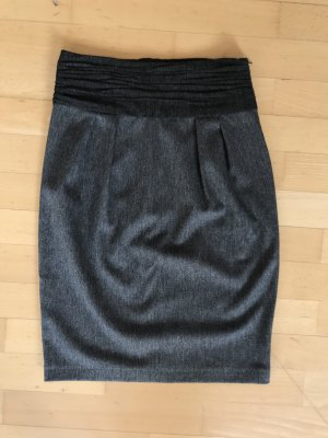 Zara High Waist Skirt grey-anthracite