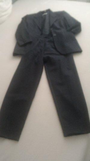 Amalfi Traje de pantalón gris oscuro lana de esquila