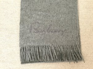 Burberry Cashmere Scarf light grey cashmere