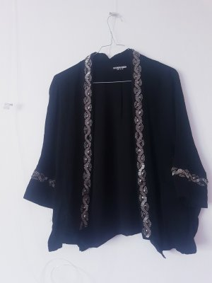 Fashion Union Kimono black-silver-colored