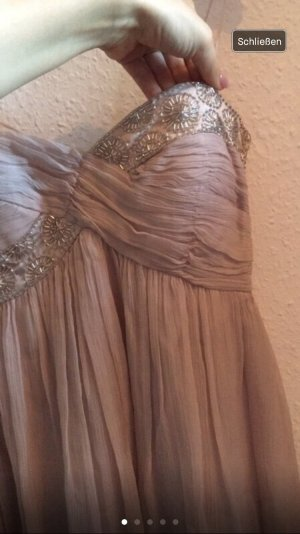 Eleganter Kleid in Nude Rosa