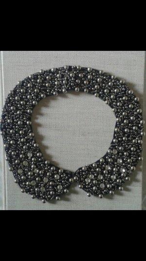 Eleganter Kragen aus Strasssteinen und Perlen NEU