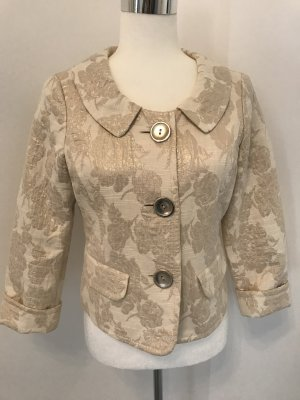 Biba Short Blazer natural white-gold-colored cotton