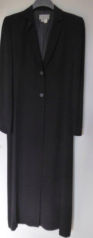 Eleganter, langer Blazer-Mantel in Schwarz