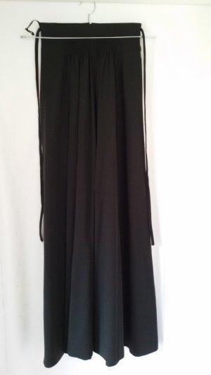Falda de talle alto negro Poliéster