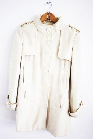 eleganter Mantel in Creme