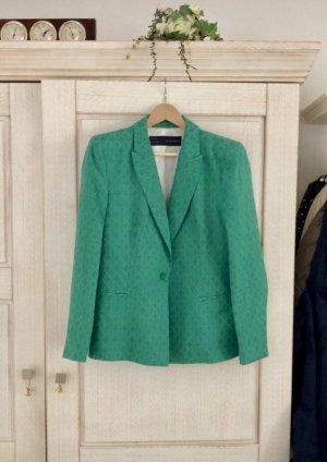 Zara Blazer de esmoquin verde-petróleo