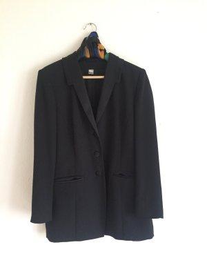 Vintage Blazer boyfriend noir polyester