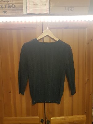 H&M Cable Sweater petrol