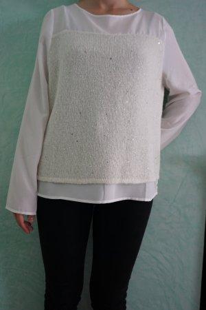 Blacky Dress Maglione bianco-argento Tessuto misto