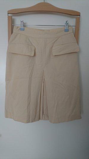 Falda de talle alto crema