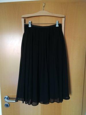 H&M Falda plisada negro tejido mezclado