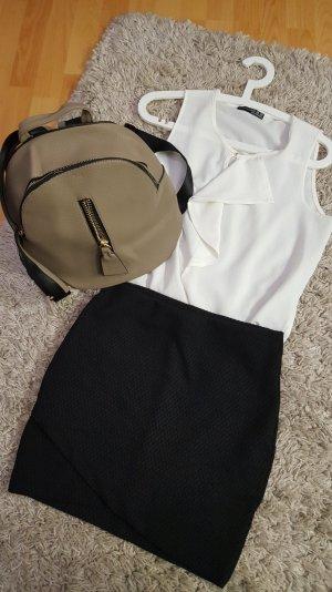 eleganter Rucksack beige&schwarz