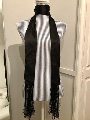 Eleganter Satin-Schal schwarz