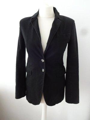 eleganter schwarzer  Blazer cordoptik