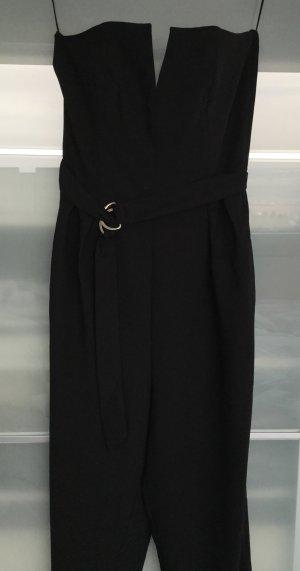 Eleganter schwarzer Jumpsuit mit Corsagenoberteil