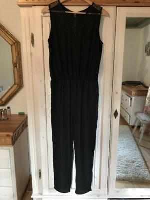 Eleganter schwarzer Jumpsuit mit Spitzeneinsatz von ASOS Gr.36