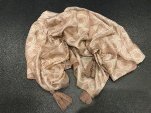 Biba Châle beige-blanc cassé soie