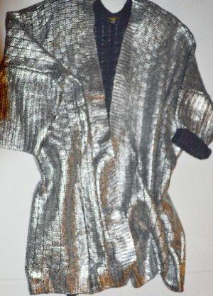 Blazer lungo argento-nero Acrilico