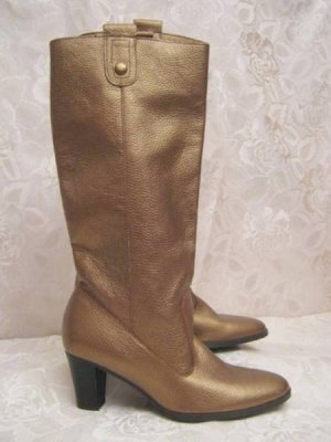 Slouch Boots bronze-colored