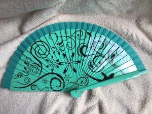 Hand Fan mint-black