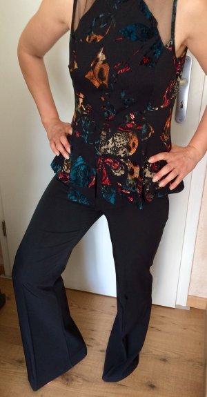 Eleganter Stoffhose in schwarz/ Schlaghose