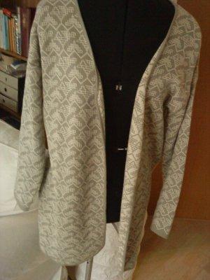 eleganter Strickcardigan creme/graugrün Größe 38 von Heartbeat