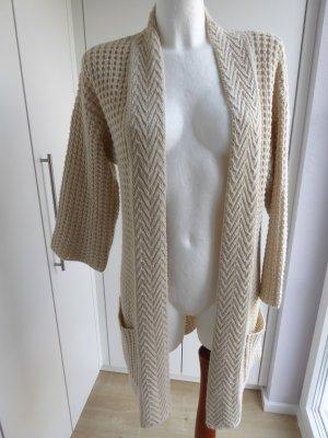 Impressionen Gebreide jas licht beige Acryl