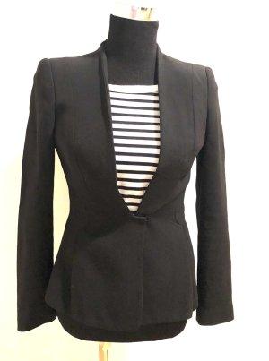 Eleganter, taillierter Blazer, schwarz