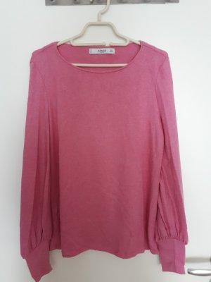 Mango Blusa rosa Viscosa
