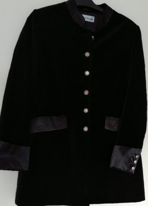 Traditional Jacket black-silver-colored polyester
