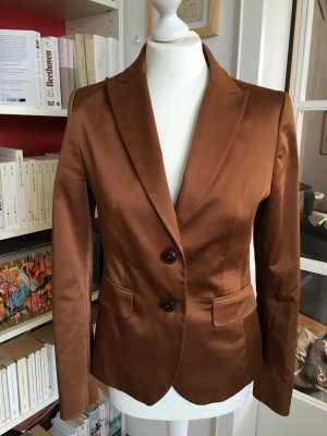 Eleganter und extravaganter Blazer in bronze-metallic