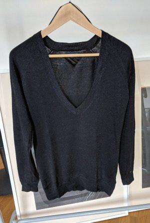 Tommy Hilfiger Pull oversize noir-gris clair coton