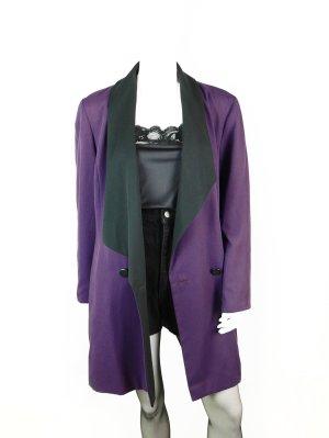 Eleganter Vintage Apart Blazer in Lila-Schwarz