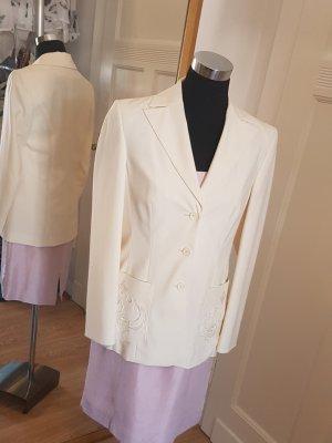 Eleganter Vintage-Blazer, ungetragen, mit Paillettenapplikationen, Gr. 36/38