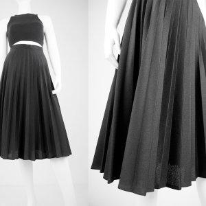 Jupe à plis noir fibre synthétique