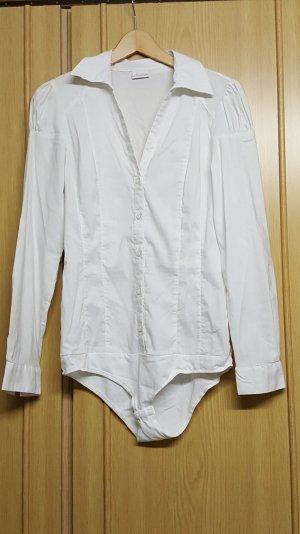 eleganter weißer Blusen-Body