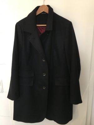 Adagio Abrigo de lana azul oscuro tejido mezclado