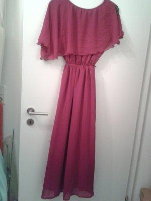 Robe de soirée violet-magenta viscose