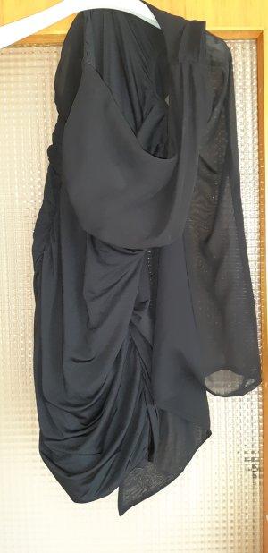 Elegantes Abendkleid   One Shoulder und Trompetenärmel❤